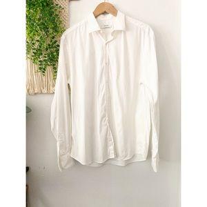 AGLINI Shirtmakers White Button Down Shirt 43